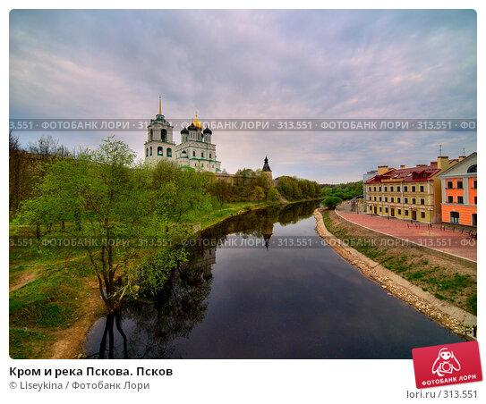 Купить «Кром и река Пскова. Псков», фото № 313551, снято 24 ноября 2017 г. (c) Liseykina / Фотобанк Лори