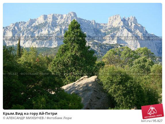 Купить «Крым.Вид на гору Ай-Петри», фото № 95827, снято 14 августа 2007 г. (c) АЛЕКСАНДР МИХЕИЧЕВ / Фотобанк Лори