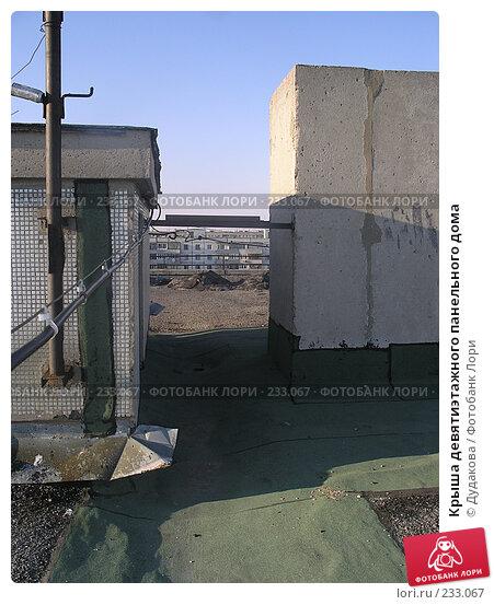 Крыша девятиэтажного панельного дома, фото № 233067, снято 20 марта 2008 г. (c) Дудакова / Фотобанк Лори