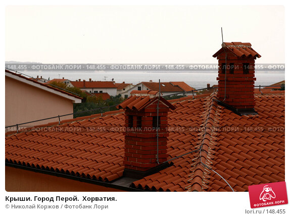 Крыши. Город Перой.  Хорватия., фото № 148455, снято 23 ноября 2007 г. (c) Николай Коржов / Фотобанк Лори