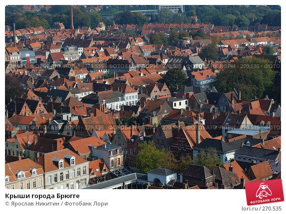 Крыши города Брюгге, фото № 270535, снято 5 октября 2007 г. (c) Ярослав Никитин / Фотобанк Лори