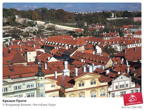 Крыши Праги, фото № 224743, снято 25 октября 2006 г. (c) Владимир Воякин / Фотобанк Лори