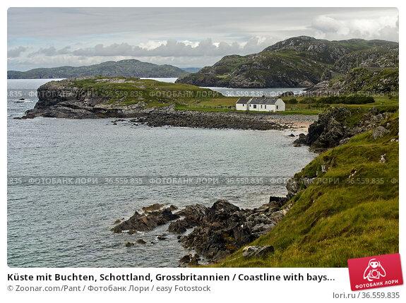 Küste mit Buchten, Schottland, Grossbritannien / Coastline with bays... Стоковое фото, фотограф Zoonar.com/Pant / easy Fotostock / Фотобанк Лори