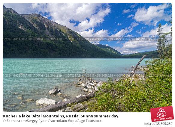 Kucherla lake. Altai Mountains, Russia. Sunny summer day. Стоковое фото, фотограф Zoonar.com/Sergey Rybin / age Fotostock / Фотобанк Лори