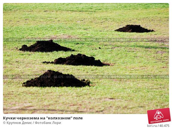"Кучки чернозема на ""колхозном"" поле, фото № 40475, снято 27 марта 2007 г. (c) Крупнов Денис / Фотобанк Лори"