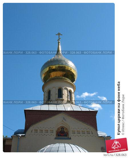 Купол церкви на фоне неба, фото № 328063, снято 11 июня 2008 г. (c) Морковкин Терентий / Фотобанк Лори