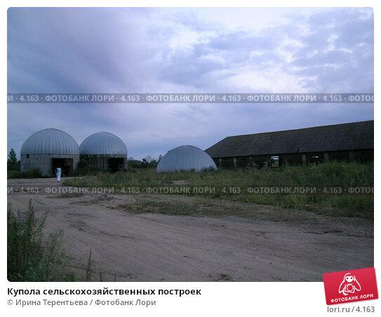 Купола сельскохозяйственных построек, эксклюзивное фото № 4163, снято 21 августа 2004 г. (c) Ирина Терентьева / Фотобанк Лори