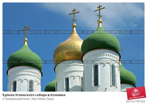 Купола Успенского собора в Коломне, эксклюзивное фото № 47523, снято 29 мая 2005 г. (c) Знаменский Олег / Фотобанк Лори