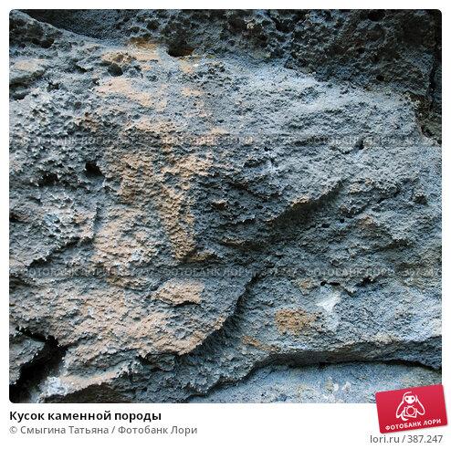 Кусок каменной породы, фото № 387247, снято 30 июля 2008 г. (c) Смыгина Татьяна / Фотобанк Лори