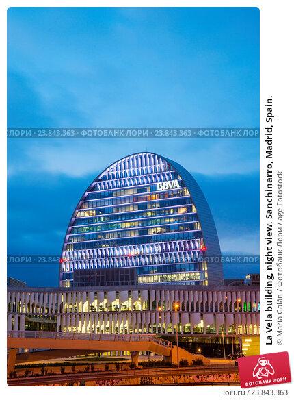 Купить «La Vela building, night view. Sanchinarro, Madrid, Spain.», фото № 23843363, снято 29 декабря 2015 г. (c) age Fotostock / Фотобанк Лори