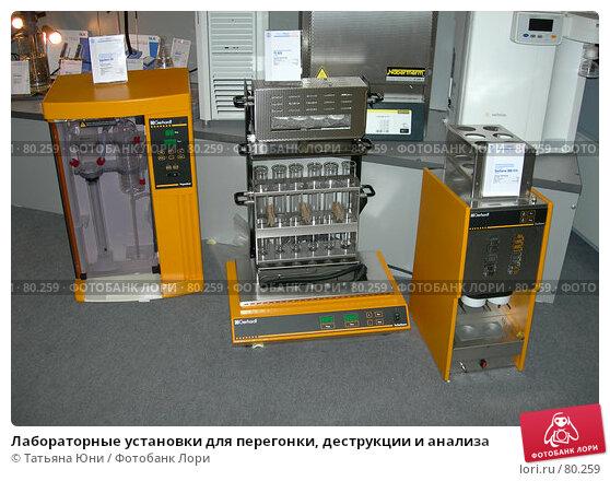 Лабораторные установки для перегонки, деструкции и анализа, фото № 80259, снято 5 сентября 2007 г. (c) Татьяна Юни / Фотобанк Лори