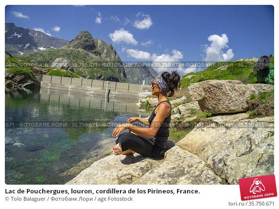 Lac de Pouchergues, louron, cordillera de los Pirineos, France. Редакционное фото, фотограф Tolo Balaguer / age Fotostock / Фотобанк Лори