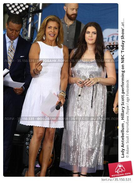 Lady Antebellum , Hillary Scott.performing on NBC 'Today Show'.at... (2018 год). Редакционное фото, фотограф Adam Scull / age Fotostock / Фотобанк Лори