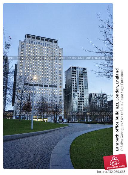 Lambeth office buildings, London, England. Стоковое фото, фотограф Salva Garrigues / age Fotostock / Фотобанк Лори