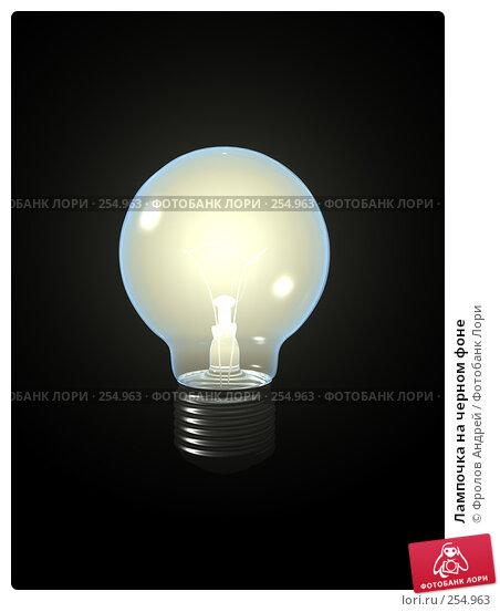 Лампочка на черном фоне, фото № 254963, снято 24 апреля 2017 г. (c) Фролов Андрей / Фотобанк Лори