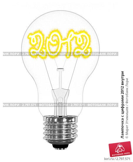 Купить «Лампочка с цифрами 2012 внутри», иллюстрация № 2797571 (c) Марат Утимишев / Фотобанк Лори