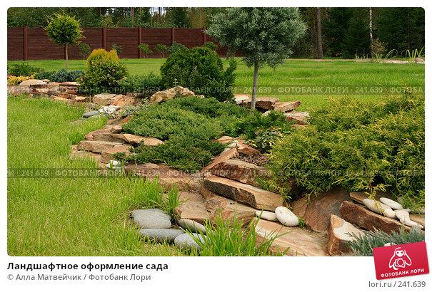 Купить «Ландшафтное оформление сада», фото № 241639, снято 8 сентября 2007 г. (c) Алла Матвейчик / Фотобанк Лори