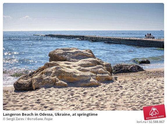 Купить «Langeron Beach in Odessa, Ukraine, at springtime», фото № 32588867, снято 23 апреля 2019 г. (c) Sergii Zarev / Фотобанк Лори