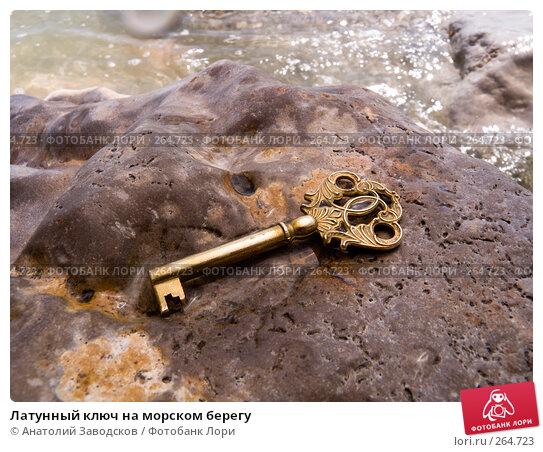 Латунный ключ на морском берегу, фото № 264723, снято 25 мая 2007 г. (c) Анатолий Заводсков / Фотобанк Лори