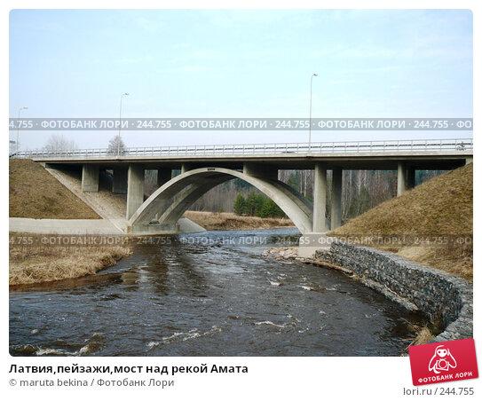 Латвия,пейзажи,мост над рекой Амата, фото № 244755, снято 4 апреля 2008 г. (c) maruta bekina / Фотобанк Лори