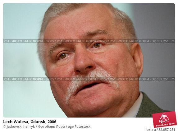 Lech Walesa, Gdansk, 2006. Редакционное фото, фотограф jackowski henryk / age Fotostock / Фотобанк Лори