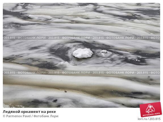 Купить «Ледяной орнамент на реке», фото № 203815, снято 6 февраля 2008 г. (c) Parmenov Pavel / Фотобанк Лори