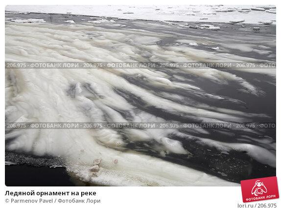 Ледяной орнамент на реке, фото № 206975, снято 6 февраля 2008 г. (c) Parmenov Pavel / Фотобанк Лори