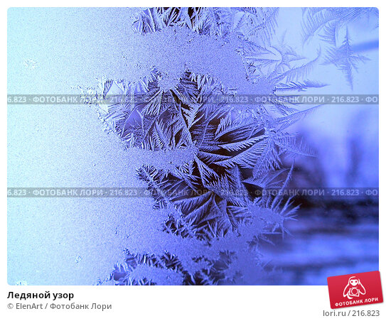 Ледяной узор, фото № 216823, снято 25 марта 2017 г. (c) ElenArt / Фотобанк Лори