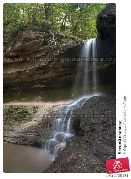 Лесной водопад, фото № 85651, снято 25 августа 2007 г. (c) Сергей Старуш / Фотобанк Лори