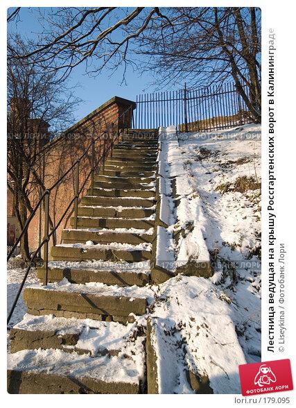 Лестница ведущая на крышу Россгартенских ворот в Калининграде, фото № 179095, снято 2 января 2008 г. (c) Liseykina / Фотобанк Лори