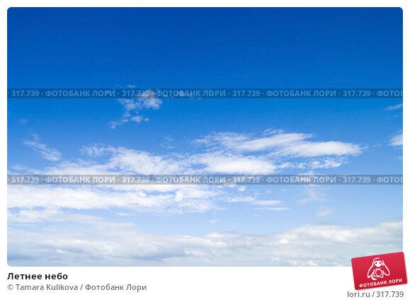 Летнее небо, фото № 317739, снято 4 июня 2008 г. (c) Tamara Kulikova / Фотобанк Лори