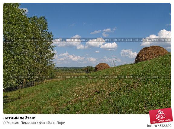 Летний пейзаж, фото № 332899, снято 23 июля 2005 г. (c) Максим Пименов / Фотобанк Лори