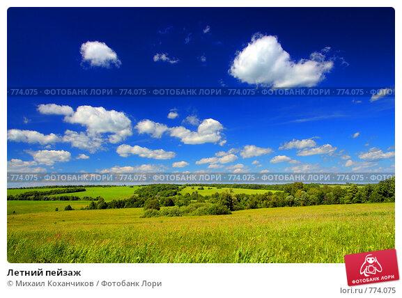 Летний пейзаж, фото № 774075, снято 12 июня 2008 г. (c) Михаил Коханчиков / Фотобанк Лори