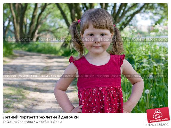 Летний портрет трехлетней девочки, фото № 135999, снято 8 июня 2007 г. (c) Ольга Сапегина / Фотобанк Лори