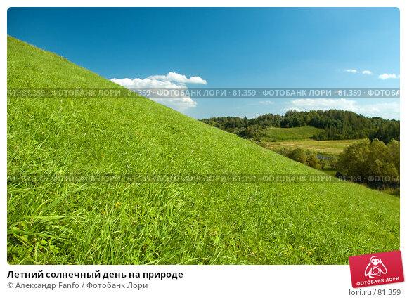 Купить «Летний солнечный день на природе», фото № 81359, снято 9 августа 2007 г. (c) Александр Fanfo / Фотобанк Лори
