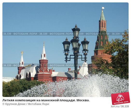 Летняя композиция на манежной площади. Москва., фото № 38339, снято 10 сентября 2005 г. (c) Крупнов Денис / Фотобанк Лори