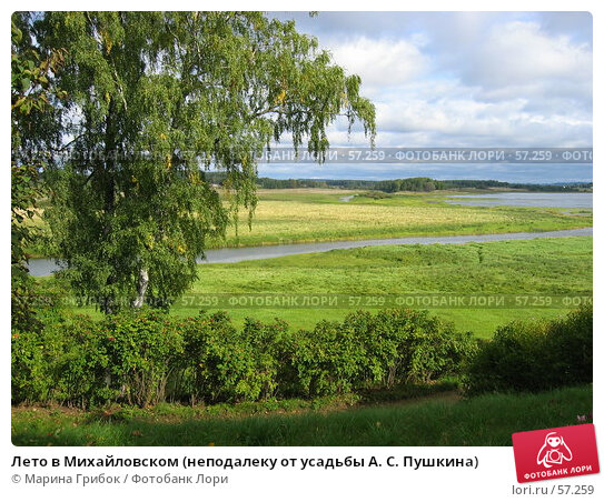 Лето в Михайловском (неподалеку от усадьбы А. С. Пушкина), фото № 57259, снято 16 сентября 2005 г. (c) Марина Грибок / Фотобанк Лори