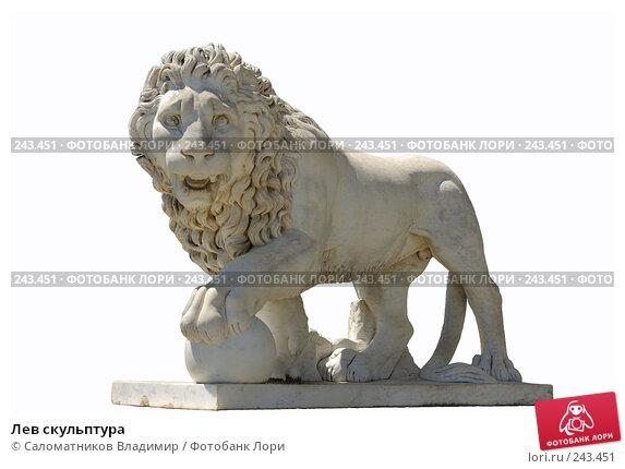 Лев скульптура, фото № 243451, снято 19 июля 2007 г. (c) Саломатников Владимир / Фотобанк Лори
