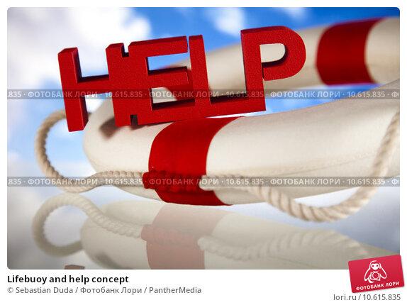 Lifebuoy and help concept. Стоковое фото, фотограф Sebastian Duda / PantherMedia / Фотобанк Лори