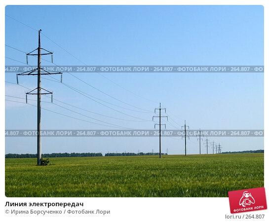 Линия электропередач, фото № 264807, снято 17 июня 2007 г. (c) Ирина Борсученко / Фотобанк Лори