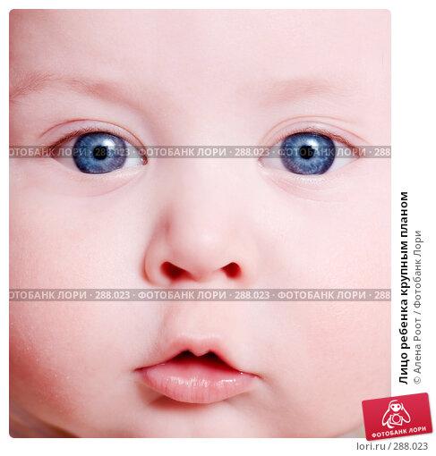 Лицо ребенка крупным планом, фото № 288023, снято 27 февраля 2007 г. (c) Алена Роот / Фотобанк Лори