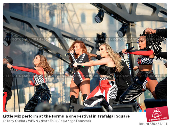 Little Mix perform at the Formula one Festival in Trafalgar Square (2017 год). Редакционное фото, фотограф Tony Oudot / WENN / age Fotostock / Фотобанк Лори