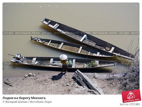 Лодки на берегу Меконга, фото № 273983, снято 10 декабря 2007 г. (c) Валерий Шанин / Фотобанк Лори