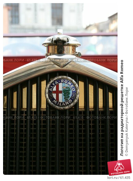 Логотип на радиаторной решетке Alfa Romeo, фото № 61435, снято 17 мая 2007 г. (c) Demyanyuk Kateryna / Фотобанк Лори