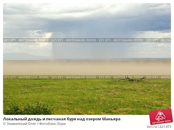 Локальный дождь и песчаная буря над озером Маньяра, фото № 221971, снято 21 января 2008 г. (c) Знаменский Олег / Фотобанк Лори