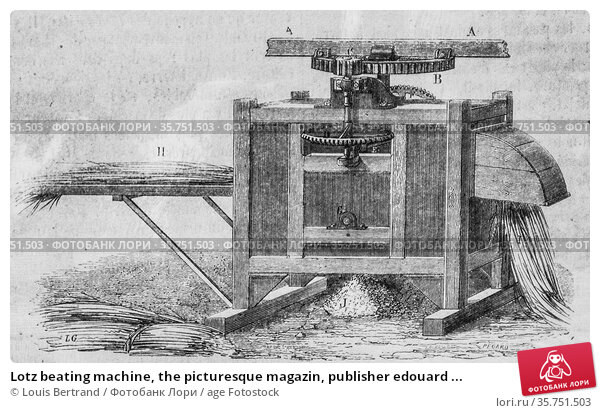 Lotz beating machine, the picturesque magazin, publisher edouard ... (2009 год). Редакционное фото, фотограф Louis Bertrand / age Fotostock / Фотобанк Лори