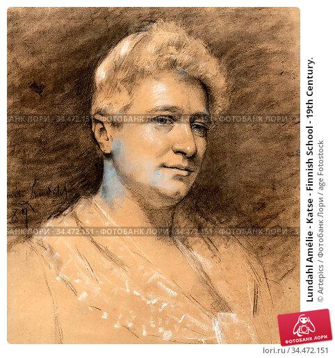 Lundahl Amélie - Katse - Finnish School - 19th Century. Редакционное фото, фотограф Artepics / age Fotostock / Фотобанк Лори