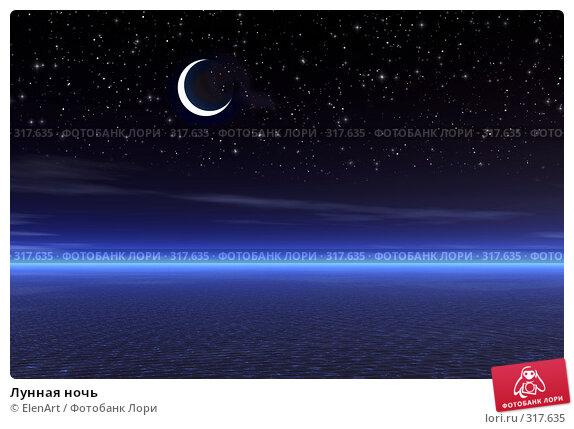 Купить «Лунная ночь», иллюстрация № 317635 (c) ElenArt / Фотобанк Лори