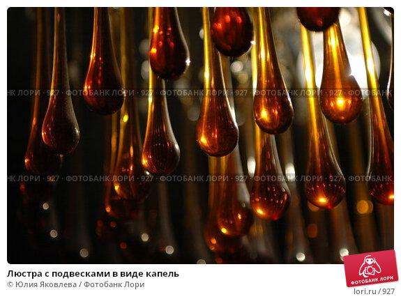 Купить «Люстра с подвесками в виде капель», фото № 927, снято 20 февраля 2006 г. (c) Юлия Яковлева / Фотобанк Лори