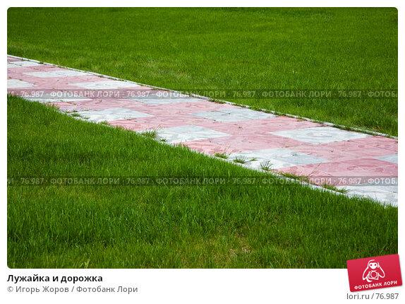 Лужайка и дорожка, фото № 76987, снято 31 мая 2007 г. (c) Игорь Жоров / Фотобанк Лори
